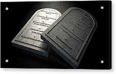 The Ten Commandments Acrylic Print