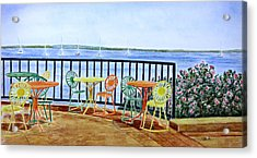 The Terrace View Acrylic Print