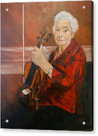 The Violin Acrylic Print by Sharon Schultz