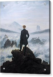 The Wanderer Above The Sea Of Fog Acrylic Print