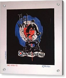 The Who - Quadrophenia Acrylic Print by Richard John Holden RA