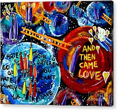 Acrylic Print featuring the painting Then Came Love by Jackie Carpenter