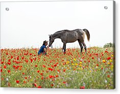 Three At The Poppies' Field... 4 Acrylic Print