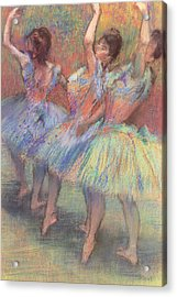 Three Dancers Acrylic Print by Edgar Degas