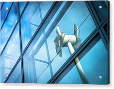 Tilted Windmills Sculpture Acrylic Print by Dan Dunkley