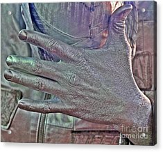 Acrylic Print featuring the photograph Tin Man Hand by Lilliana Mendez