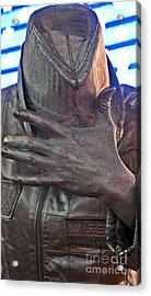 Acrylic Print featuring the photograph Tin Man In Times Square by Lilliana Mendez