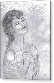 Acrylic Print featuring the drawing To Hope by Desline Vitto