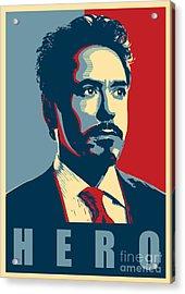 Tony Stark Acrylic Print