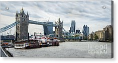 Tower Bridge London Acrylic Print by Donald Davis