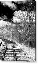 Tracks Acrylic Print by John Rizzuto