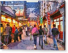 Traditional Shopping Area Acrylic Print