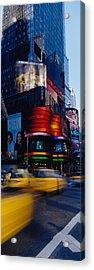 Traffic On A Street, Times Square Acrylic Print