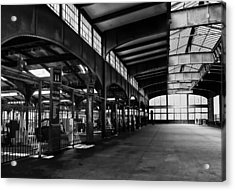Train Station Acrylic Print by Wayne Gill