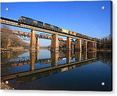 2 Trains 2 Trestles Cayce South Carolina Acrylic Print