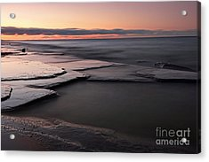 Tranquil Beach Acrylic Print by Charline Xia