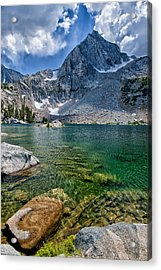 Treasure Lakes Acrylic Print by Cat Connor