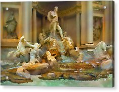 Trevi Fountain Acrylic Print by Bill Quick