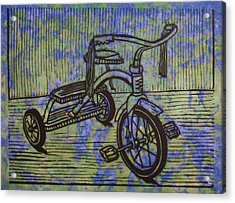 Tricycle Acrylic Print by William Cauthern