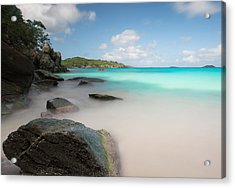 Trunk Bay At St. John Us Virgin Islands Acrylic Print