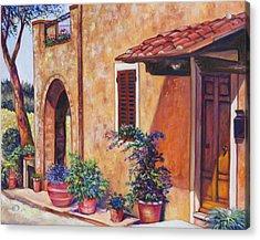 Tuscan Flower Pots Acrylic Print
