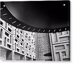 Ufos In A Maze Acrylic Print by Bob Wall