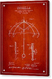 Umbrella Patent Drawing From 1912 Acrylic Print by Aged Pixel