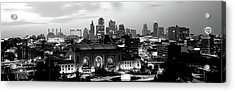 Union Station At Sunset With City Acrylic Print