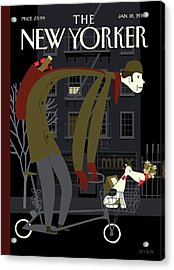 New Yorker January 18th, 2010 Acrylic Print by Frank Viva