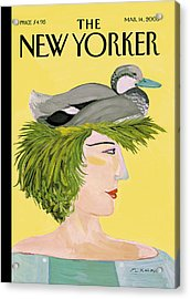 New Yorker March 14th, 2005 Acrylic Print by Maira Kalman