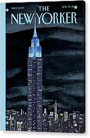 New Yorker November 19th, 2012 Acrylic Print by Mark Ulriksen