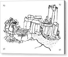 New Yorker February 23rd, 2009 Acrylic Print by Sidney Harris