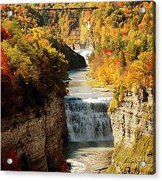 Upper Falls Acrylic Print by Kathleen Struckle