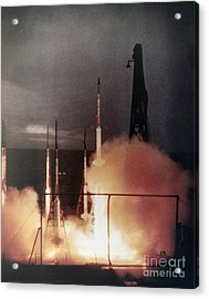 Us Navy Rockets 1958 Acrylic Print by Granger