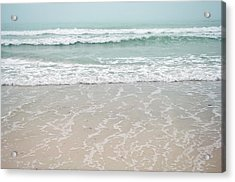 Usa, Florida, Sarasota, Crescent Beach Acrylic Print by Bernard Friel