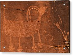 Usa, Utah Prehistoric Petroglyph Rock Acrylic Print
