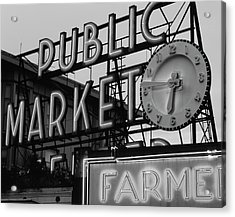 Usa, Washington State, Seattle, View Acrylic Print by Walter Bibikow