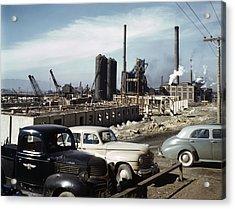 Utah Steel Mill, 1942 Acrylic Print by Granger