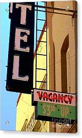 Acrylic Print featuring the digital art Vacancy by Valerie Reeves