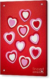 Valentines Day Hearts Acrylic Print by Elena Elisseeva