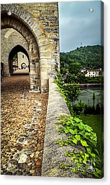 Valentre Bridge In Cahors France Acrylic Print by Elena Elisseeva