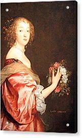 Van Dyck's Catherine Howard -- Lady D'aubigny Acrylic Print