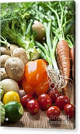 Vegetables Acrylic Print by Elena Elisseeva