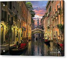 Venice At Dusk Acrylic Print by Dominic Davison