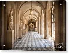 Versailles Hallway Acrylic Print by Inge Johnsson