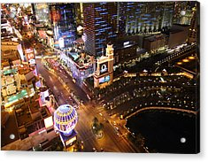 View From Eiffel Tower In Las Vegas - 01131 Acrylic Print