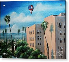 Acrylic Print featuring the painting View From Olympic Boulevard by S G