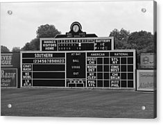 Vintage Baseball Scoreboard Acrylic Print by Frank Romeo