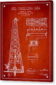 Vintage Oil Drilling Rig Patent From 1916 Acrylic Print by Aged Pixel