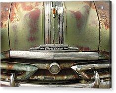 Vintage Pontiac Grille Acrylic Print by Jim Hughes